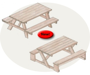 build picnic table and benches | Woodworking Tips Online