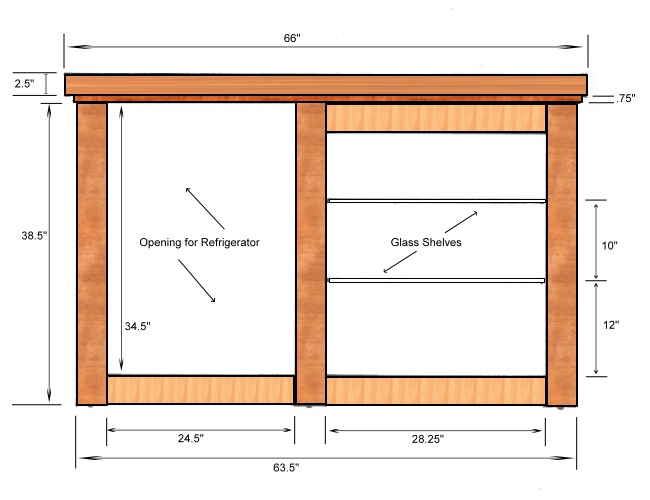 Home Bar Plans Dimensions