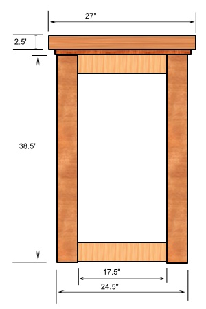 Home Bar Plans - Side View