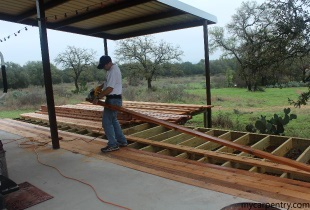 Preparing the Cedar Deck Boards