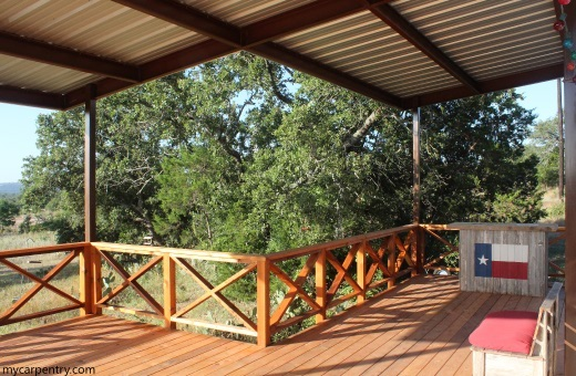 Completed cedar deck
