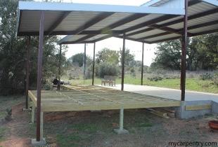 Finished Cedar Deck Frame