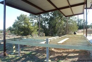 Cedar Deck Framing