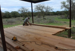 Cedar Deck Installation
