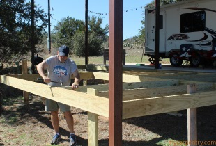 Installing Joists on the Cedar Deck