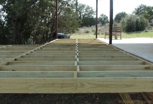 Cedar Decking Blocking