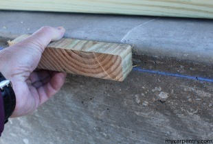 Determine the Cedar Deck Leger Height