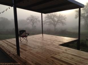 Cedar Deck before railing