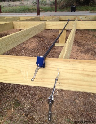 Using a Pipe Clamp while building a deck