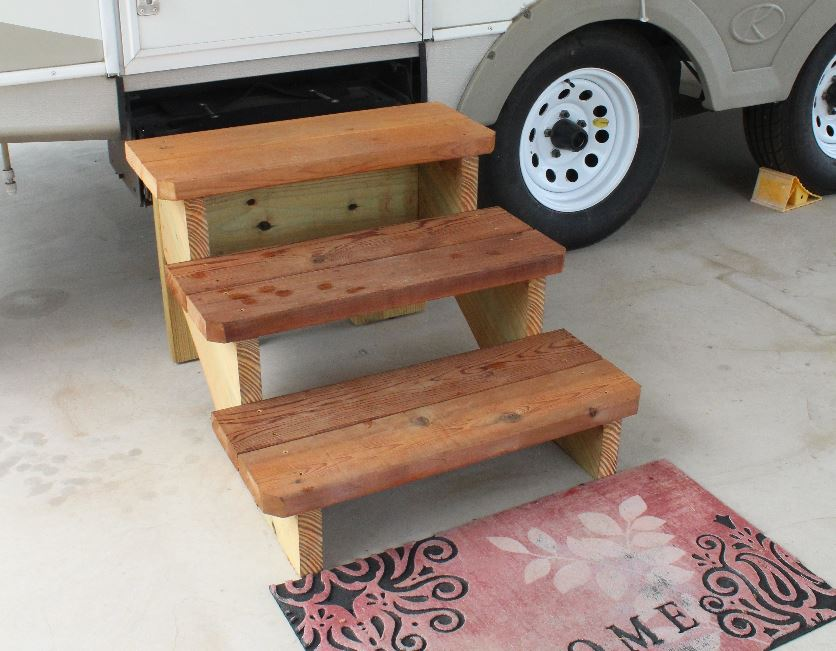 Custom Stairs - Free Standing Stairs designed for Travel Trailers