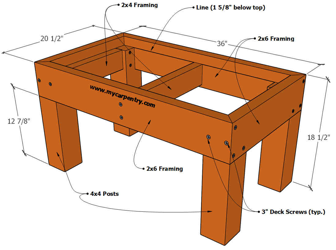 Deck Bench Plans Free Plans For A Bench Designed For A Deck