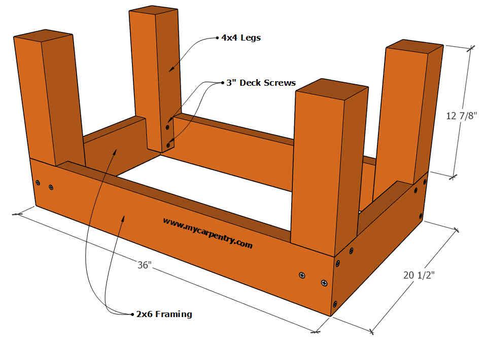Deck Bench Plan