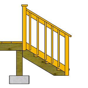 Build a Deck - Stair Railing