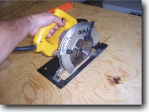 Circular Saw Cutting Plywood