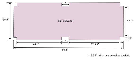 Home Bar Plans - Base Dimensions