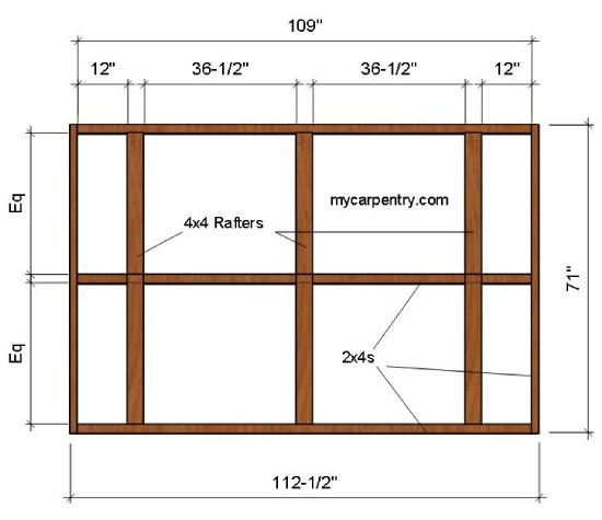 Outdoor Shower Roof Plan
