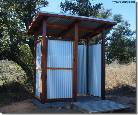 outdoor shower stalls - Outdoor Bathroom