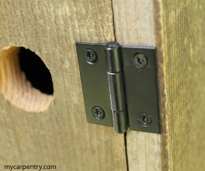 Outhouse Birdhouse Hinge