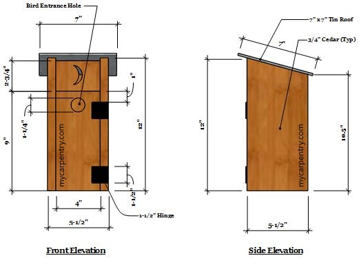 Outhouse Birdhouse - Birdhouse Plans that Resembles a ...