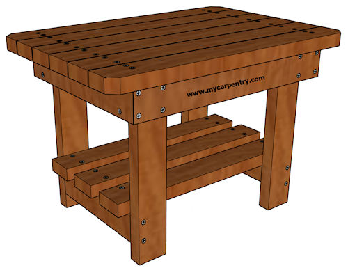 build outdoor end table Download PDF Plans
