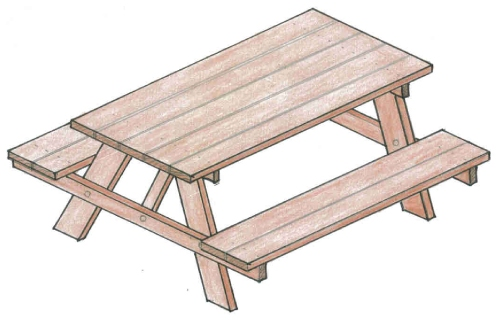 SIDED PICNIC TABLE PLANS « PICNIC TABLES