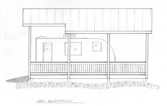 RV Docking Station - East Elevation