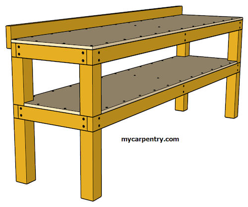 Plywood Garage Cabinet Plans: Simple Workbench Plans
