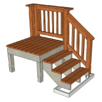 This Tutorial Shows How To Design Stair Railing So That It Ties In With The  Railing Of The Upper Deck Or Landing.