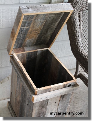 Wood Waste Basket