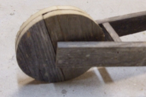 Wooden Wheelbarrow - Front Wheel Attached