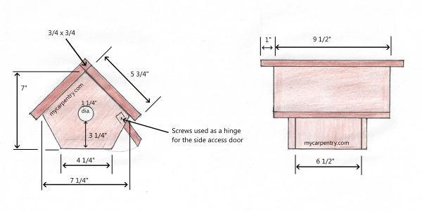 wren bird house - bird house plans