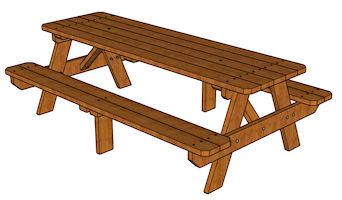 Excellent Free Picnic Table Plans Theyellowbook Wood Chair Design Ideas Theyellowbookinfo