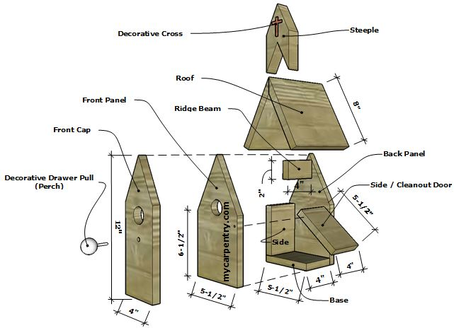 Church Birdhouse Plans
