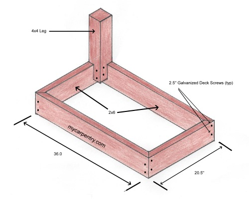Deck Bench Plan