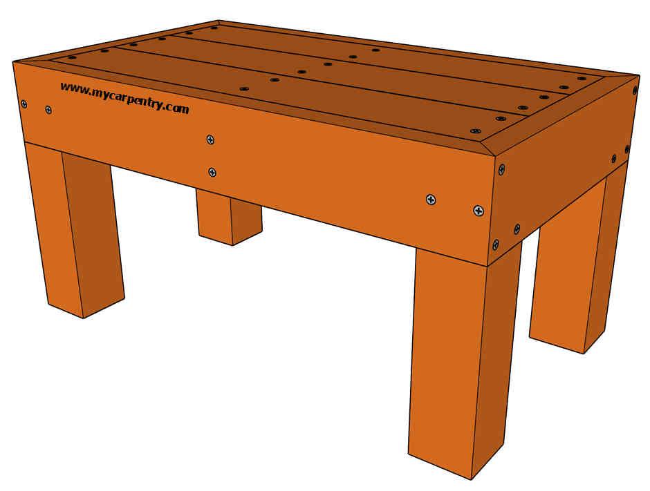 Deck Bench Plans