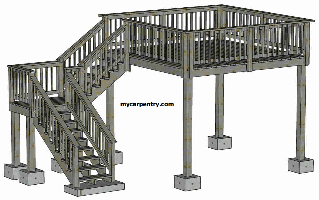 Deck Stairs With Landing