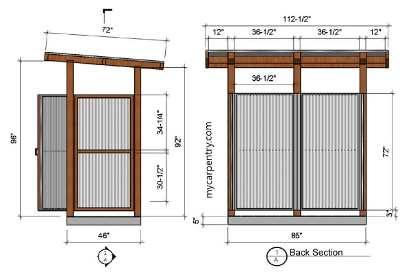 Outdoor Shower Elevations