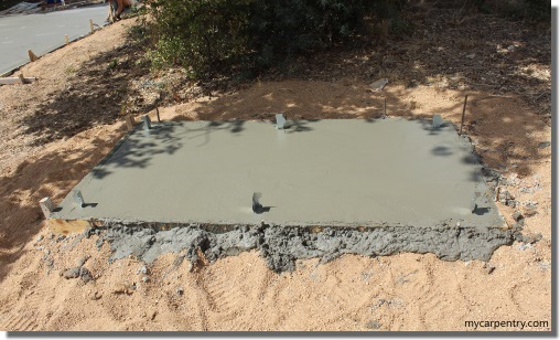 Outdoor Shower Floor - Concrete