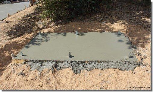 Outdoor Shower Floor - Concrete