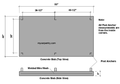 Outdoor Shower Foundation Plan