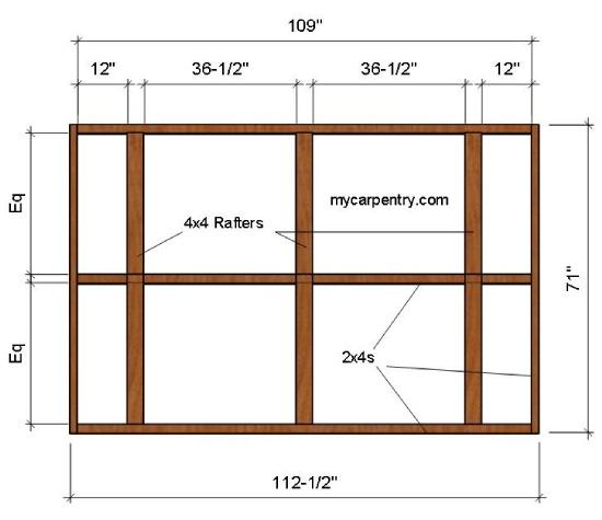 Outdoor Shower Roof Plan