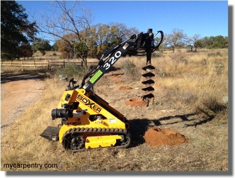 Split Rail Fence Digging Post Holes