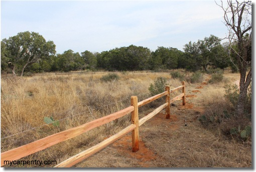 Split Rail Fence - Installation
