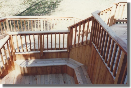 Multi Level Deck Using Stairs With Landings Fairfax Station Virginia 1987