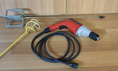 Grout Mixing Tools and Drill