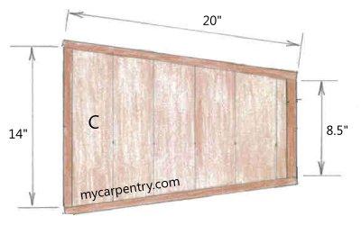 Wooden Wheelbarrow Bucket - Top View