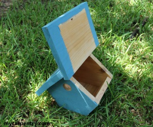 Wren Birdhouse Hinged Top